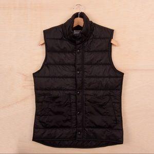 NWOT American Apparel Black Sleeveless Puffer Vest